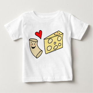 Mac Loves Cheese, Funny Cute Macaroni + Cheese Baby T-Shirt