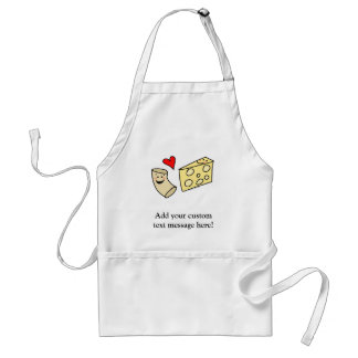 Mac Loves Cheese, Funny Cute Macaroni + Cheese Standard Apron