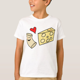 Mac Loves Cheese, Funny Cute Macaroni + Cheese T-Shirt