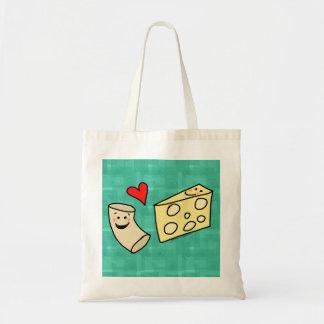 Mac Loves Cheese, Funny Cute Macaroni + Cheese Tote Bag