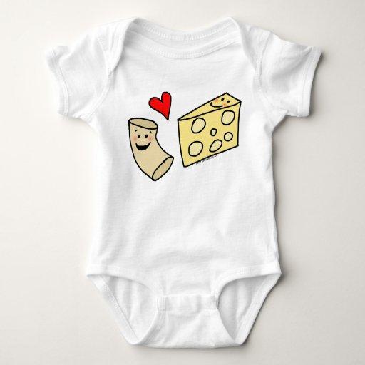 Mac Loves Cheese, Funny Cute Macaroni + Cheese Tshirts