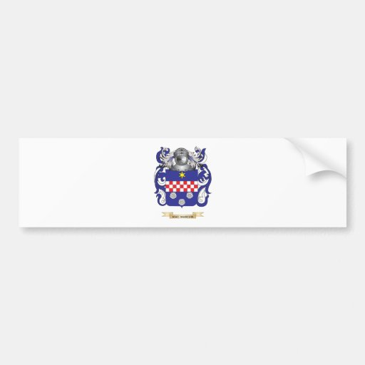 Mac-Marcuis Coat of Arms (Family Crest) Bumper Sticker