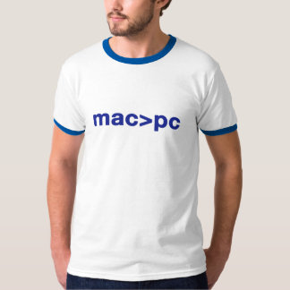 mac > pc tee shirt