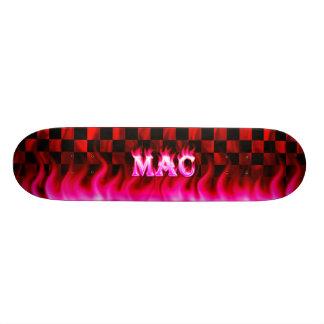 Mac pink fire Skatersollie skateboard.