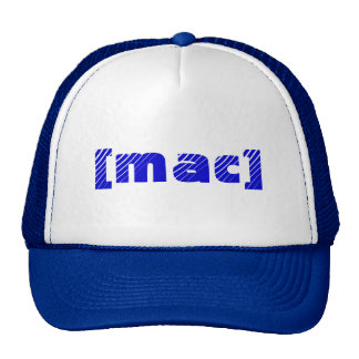 [mac rblue and white trucker hat