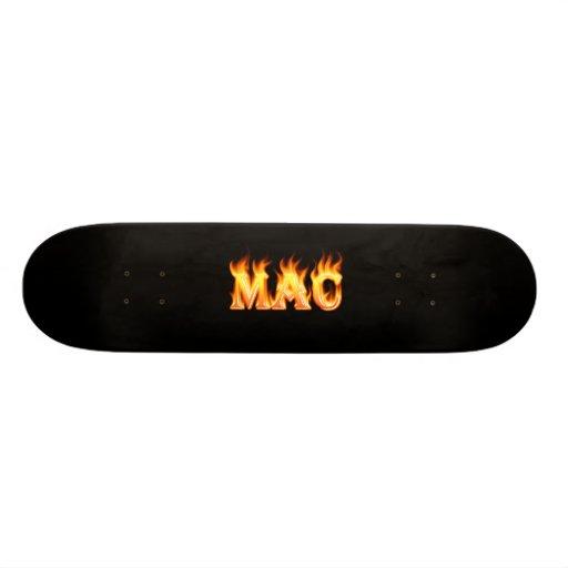Mac real fire Skatersollie skateboard.