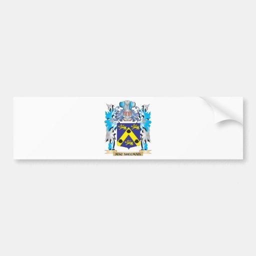 Mac-Sheumais Coat of Arms - Family Crest Bumper Sticker