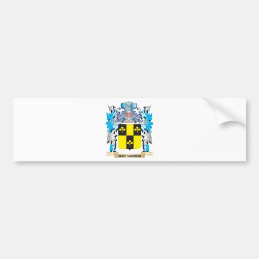 Mac-Shimidh Coat of Arms - Family Crest Bumper Stickers