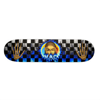 Mac skull blue fire Skatersollie skateboard