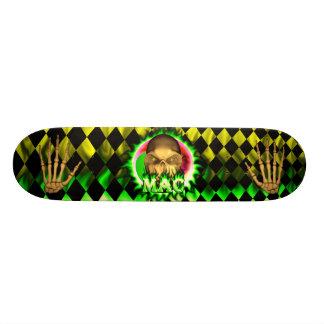 Mac skull green fire Skatersollie skateboard.