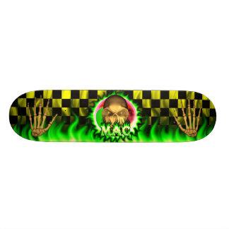 Mac skull green fire Skatersollie skateboard