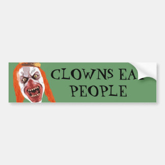 Macabre Clown Bumper Sticker