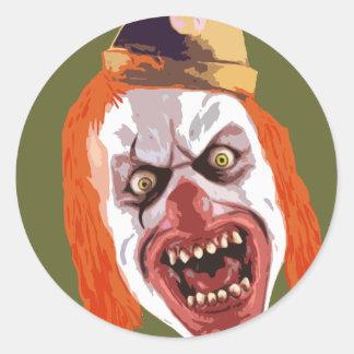 Macabre Clown Classic Round Sticker