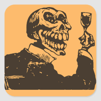 Macabre: Dia de los Muertos - A Toast Square Stickers