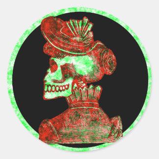 Macabre: Dia de los Muertos Round Sticker