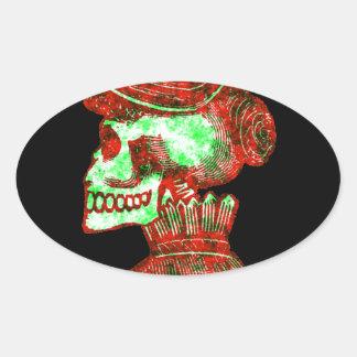 Macabre Dia de los Muertos Sticker