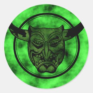 Macabre: Grinning Green Demon Stickers