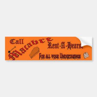 macabre rent a hearse bumper sticker