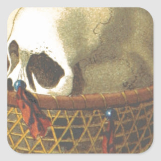 Macabre: Skull - New Guinea Square Sticker