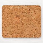 Macadamia Cork Burl Wood Grain Look Mouse Pad