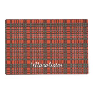 Macalister clan Plaid Scottish tartan Laminated Place Mat