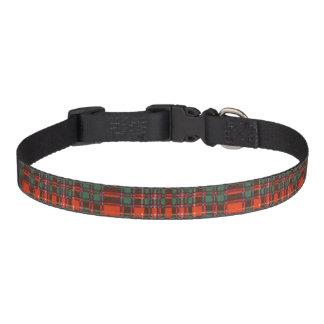Macalister clan Plaid Scottish tartan Pet Collar