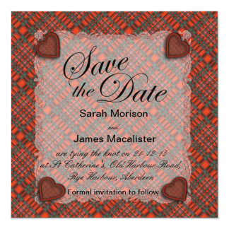 Macalister Scottish clan tartan - Plaid Card