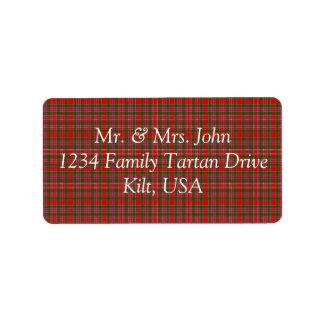 MacAlister Tartan Label Address Label
