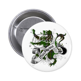 MacAlpine Tartan Lion 6 Cm Round Badge