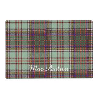 MacAndrew clan Plaid Scottish kilt tartan Laminated Placemat