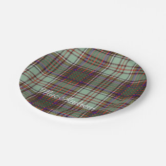 MacAndrew clan Plaid Scottish kilt tartan Paper Plate