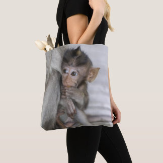 Macaque Monkey Tote Bag