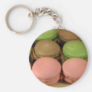 Macaron Basic Round Button Key Ring