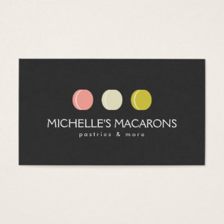 MACARON COOKIE TRIO LOGO for Bakery, Pastry Shop Business Card