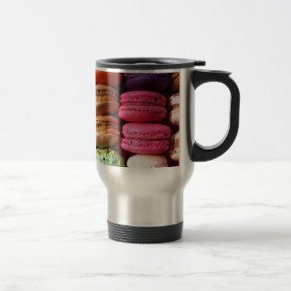 macaron cookies travel mug