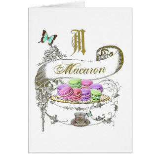 Macaron French Inspired Note Card
