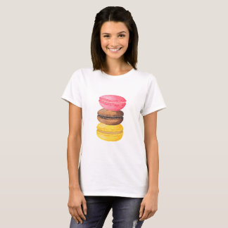 Macaron Illustration Sweets Watercolor Macaroons T-Shirt