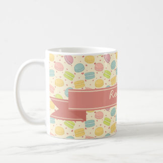 Macaron Love with Ribbon Coffee Mug