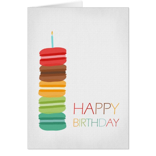 Macaron Stack Cake - Birthday Card