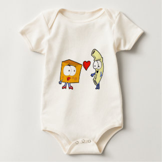 Macaroni and Cheese Baby Bodysuit