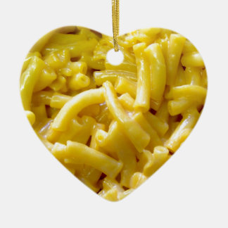 Macaroni And Cheese Ceramic Heart Decoration