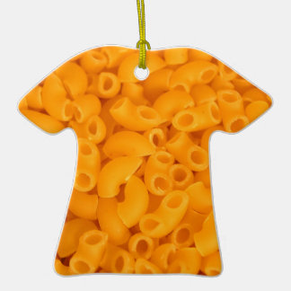 Macaroni And Cheese Double-Sided T-Shirt Ceramic Christmas Ornament