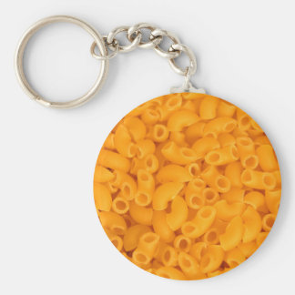 Macaroni And Cheese Basic Round Button Key Ring