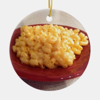 Macaroni and Cheese Round Ceramic Decoration