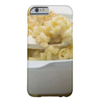 Macaroni cheese in baking dish with wooden barely there iPhone 6 case