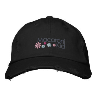 Macaroni Kid Distressed Cap Embroidered Hat