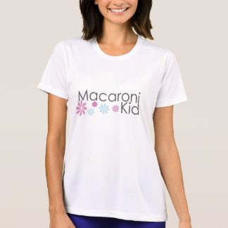 Macaroni Kid Womans V Neck Micro Fiber T-Shirt