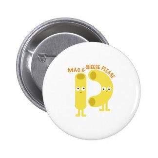 macaroni_mac and cheese please 6 cm round badge
