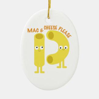 macaroni_mac and cheese please christmas ornament