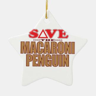 Macaroni Penguin Save Christmas Ornament